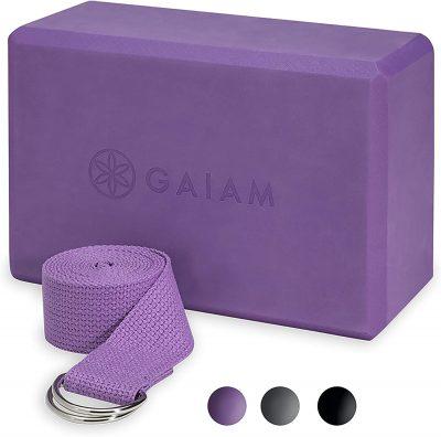 Gaiam Yoga Strap and Block Combo
