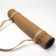 cork leaf material yoga mat
