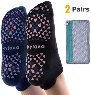 hylaea unisex non slip grip socks for yoga