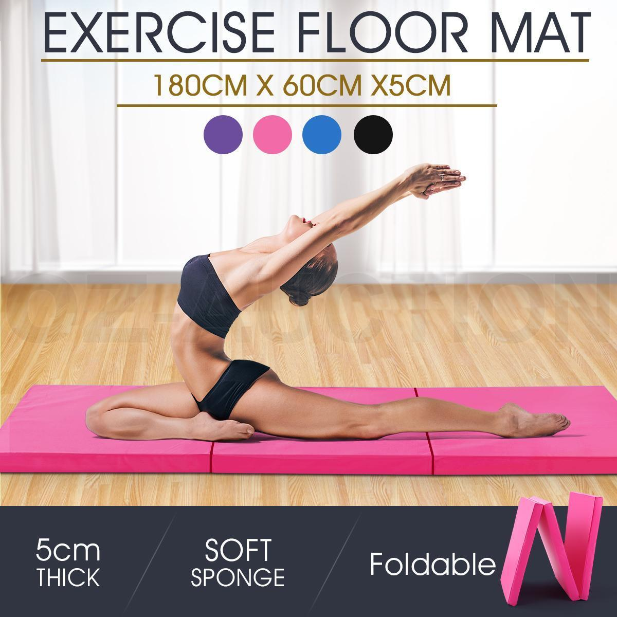 Floor mats online australia - 5cm Tri Fold Exercise Yoga Mat